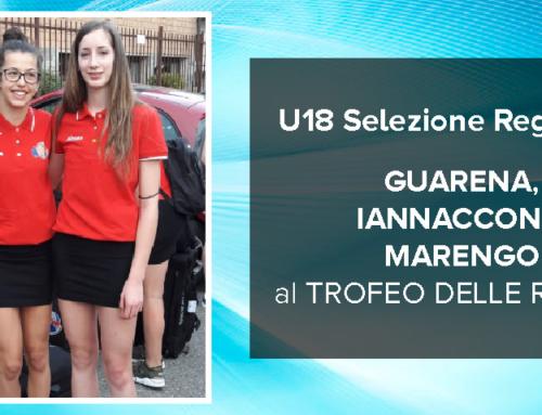 GUARENA, IANNACCONE e MARENGO in partenza per il Trofeo delle Regioni
